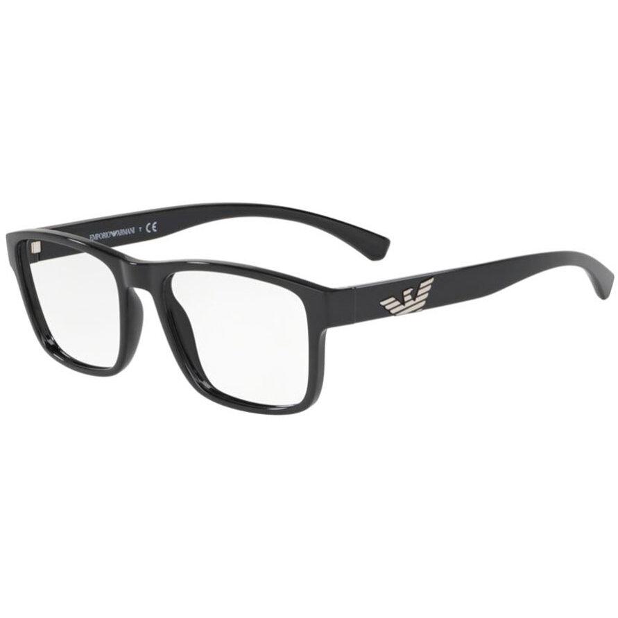 Rame ochelari de vedere barbati Emporio Armani EA3149 5017 Patrate originale cu comanda online