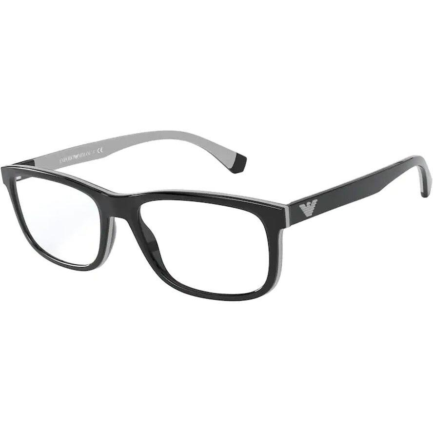 Rame ochelari de vedere barbati Emporio Armani EA3164 5001 Rectangulare originale cu comanda online