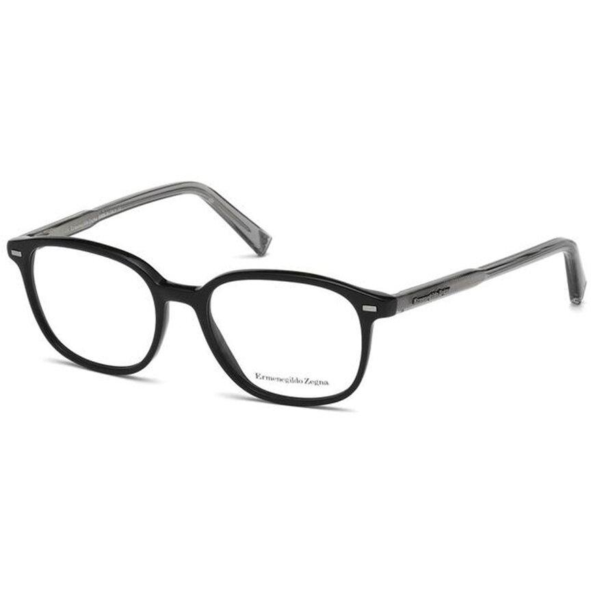 Rame ochelari de vedere barbati Ermenegildo Zegna EZ5007 001 Patrate originale cu comanda online