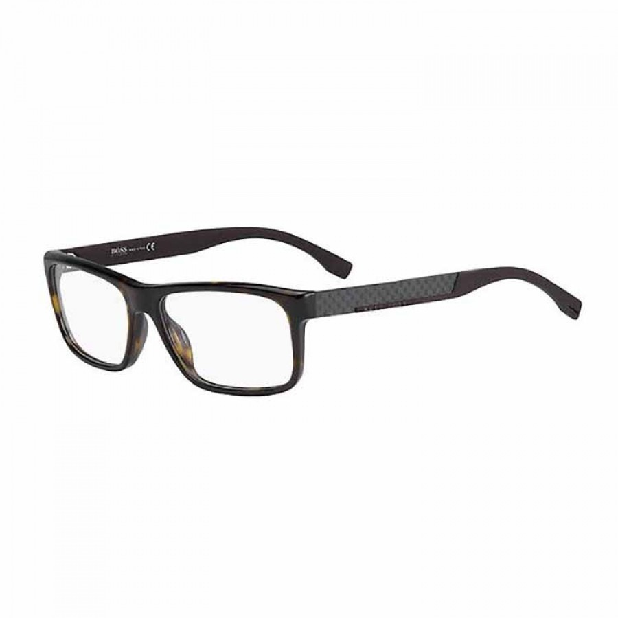 Rame ochelari de vedere barbati HUGO BOSS (S) 0643 HXF DK HAVANA Rectangulare originale cu comanda online