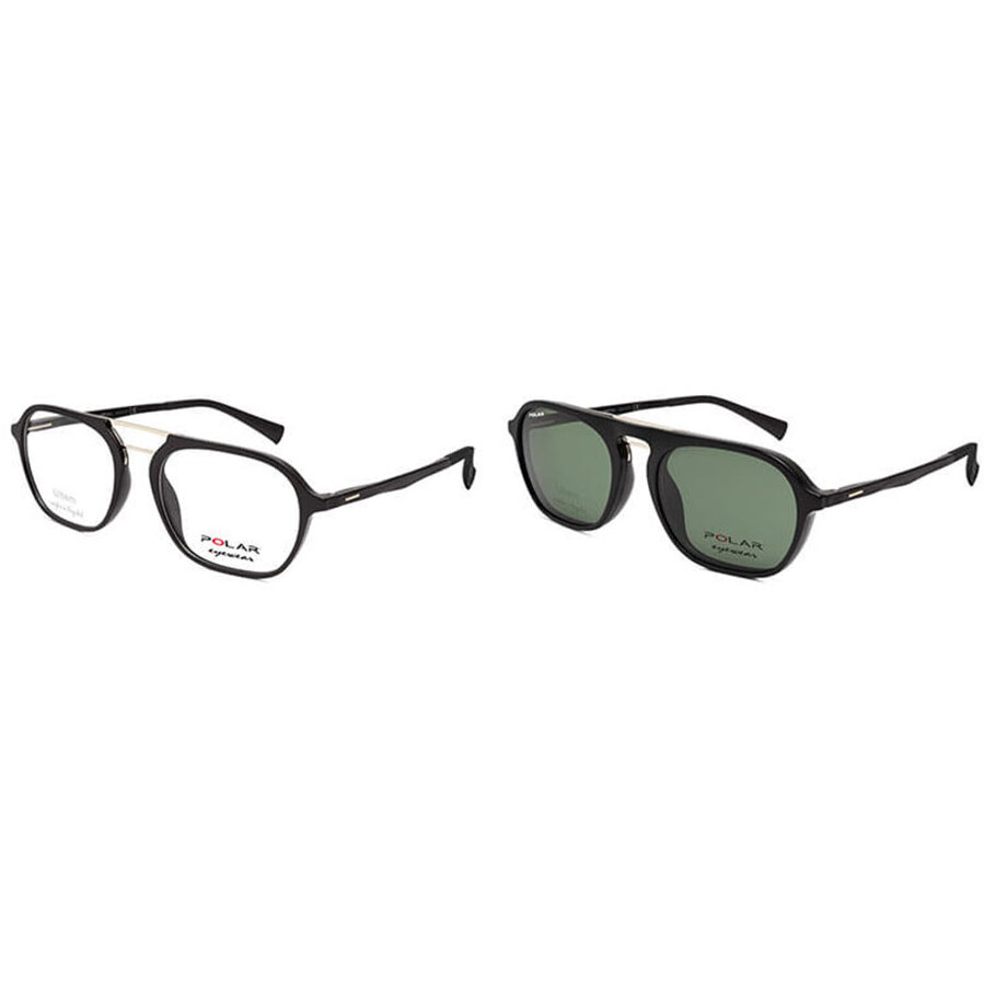 Rame ochelari de vedere barbati Polar CLIP-ON 419 | 77 Pilot originale cu comanda online