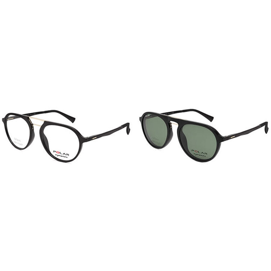 Rame ochelari de vedere barbati Polar CLIP-ON 420   77 Pilot originale cu comanda online
