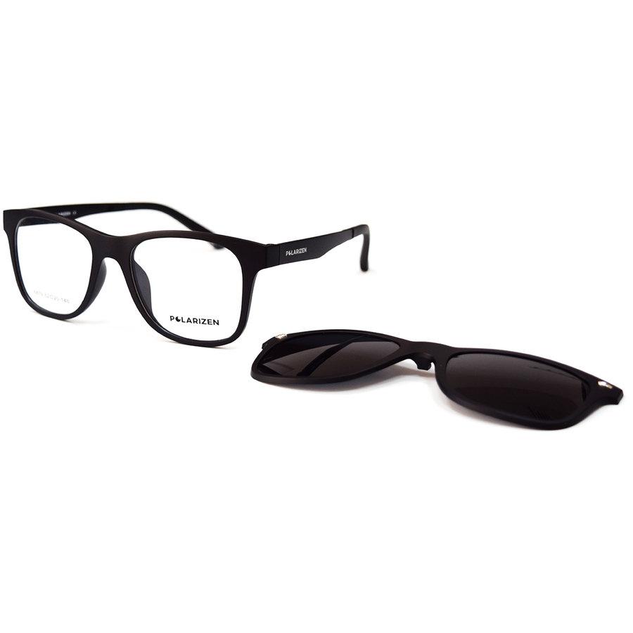 Rame ochelari de vedere barbati Polarizen CLIP-ON 6879 5 Clip-on originale cu comanda online