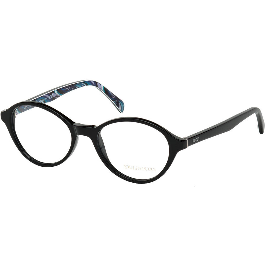 Rame ochelari de vedere dama Emilio Pucci EP5017 001 Rotunde originale cu comanda online