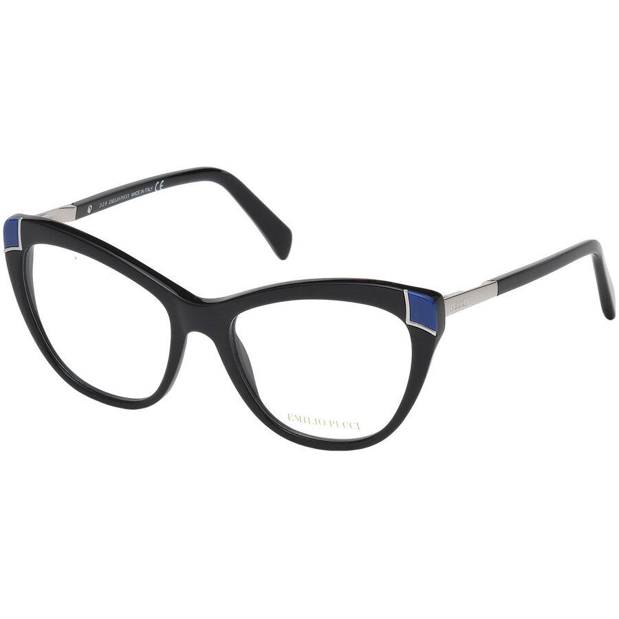 Rame ochelari de vedere dama Emilio Pucci EP5060 001 Ochi de pisica originale cu comanda online