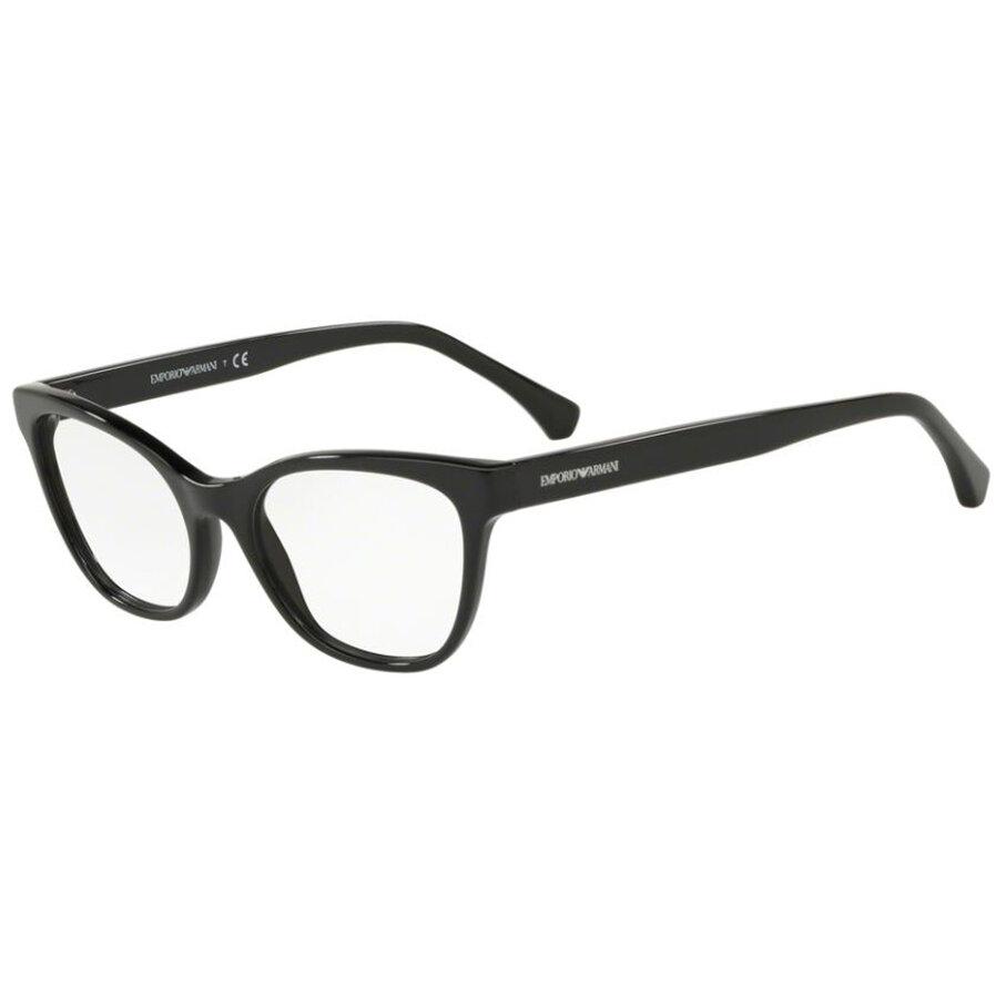 Rame ochelari de vedere dama Emporio Armani EA3142 5001 Ochi de pisica originale cu comanda online