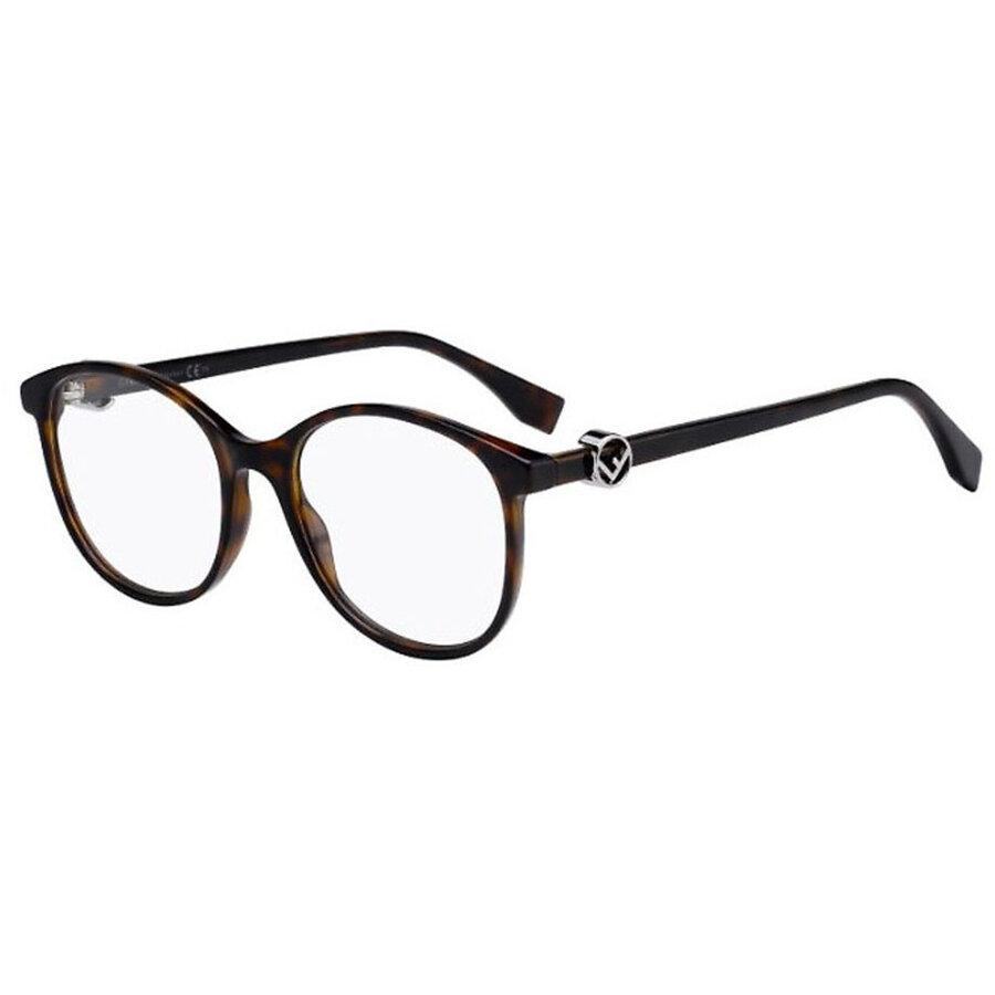 Rame ochelari de vedere dama Fendi FF 0299 086 Rotunde originale cu comanda online