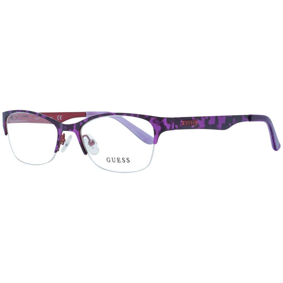 Rame ochelari de vedere dama Guess GU2469 PUR Rectangulare originale cu comanda online