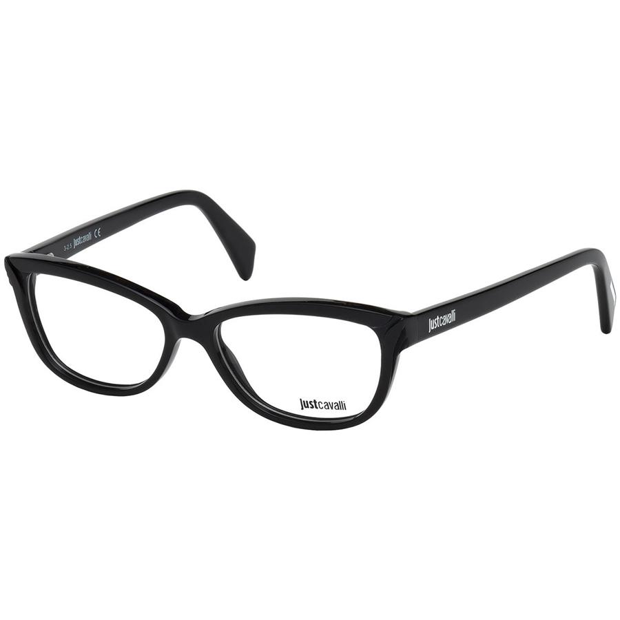 Rame ochelari de vedere dama Just Cavalli JC0759 001 Ochi de pisica originale cu comanda online
