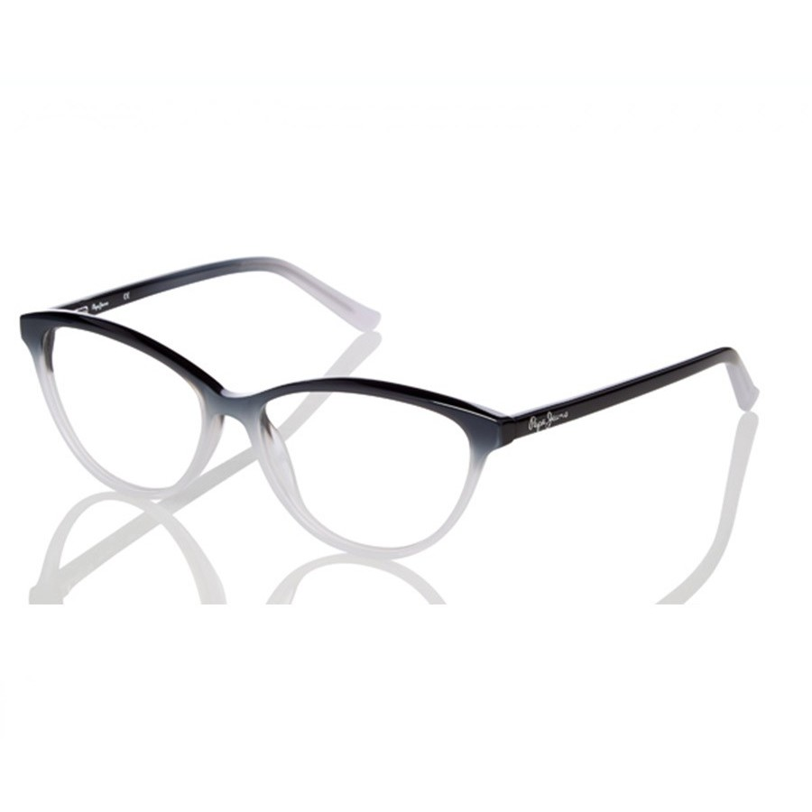 Rame ochelari de vedere dama PEPE JEANS 3224 C1 BLACK WHITE Ochi de pisica originale cu comanda online
