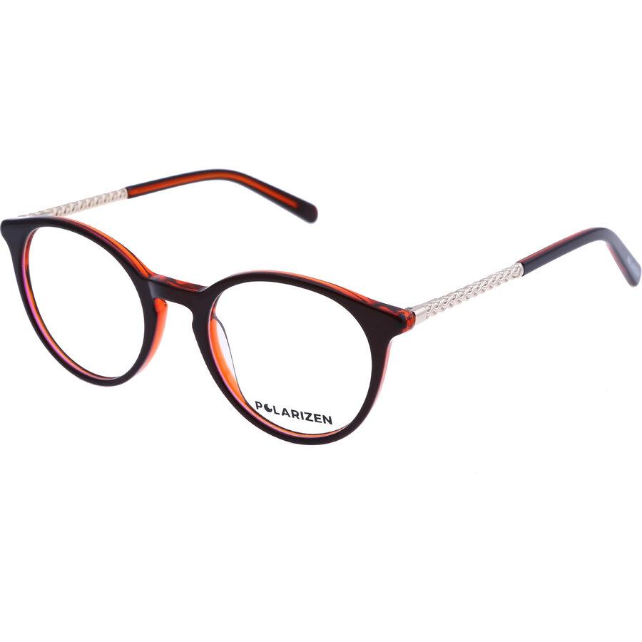 Rame ochelari de vedere dama Polarizen 17341 C2 Rotunde originale cu comanda online