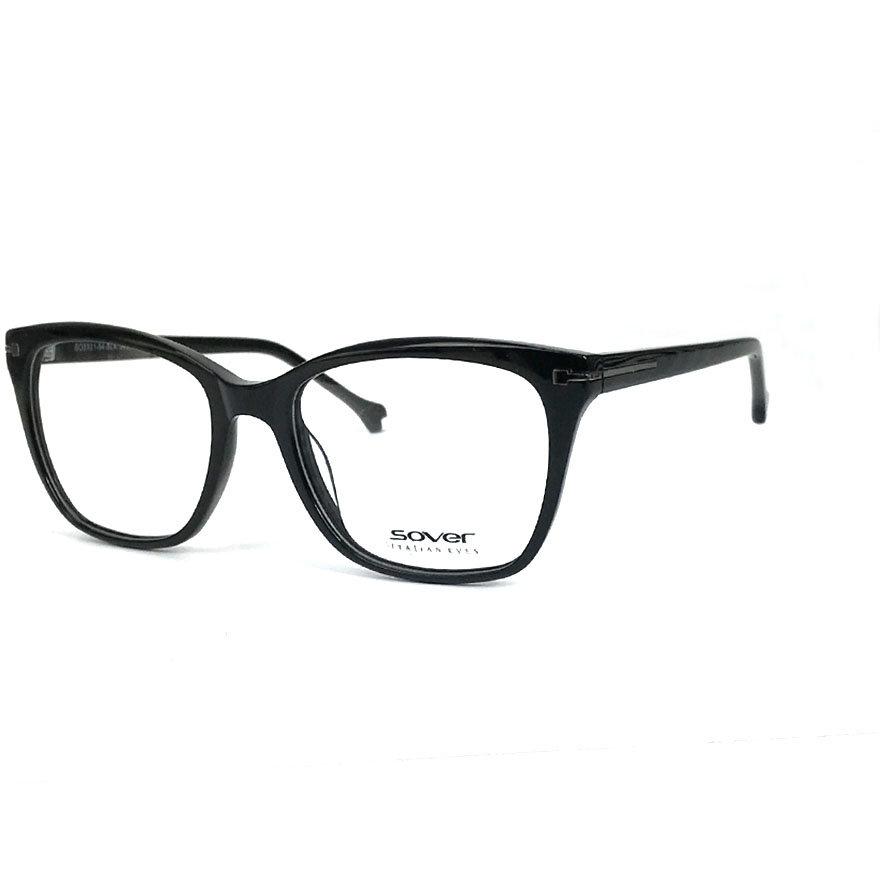 Rame ochelari de vedere dama SOVER SO5131-54-BLK Rectangulare originale cu comanda online