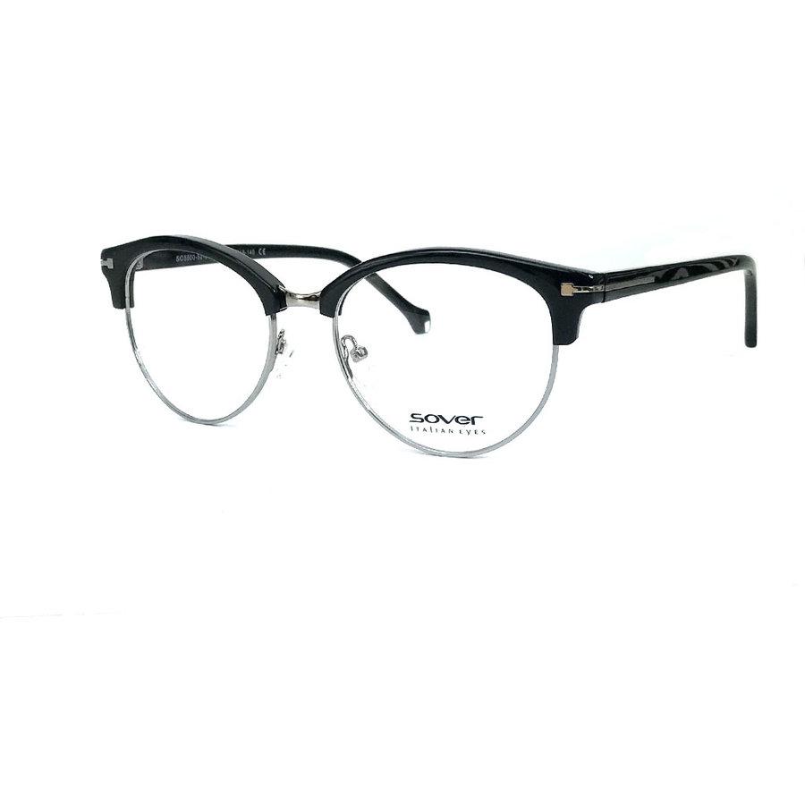 Rame ochelari de vedere dama SOVER SO5500-52-BLK GUN Browline originale cu comanda online