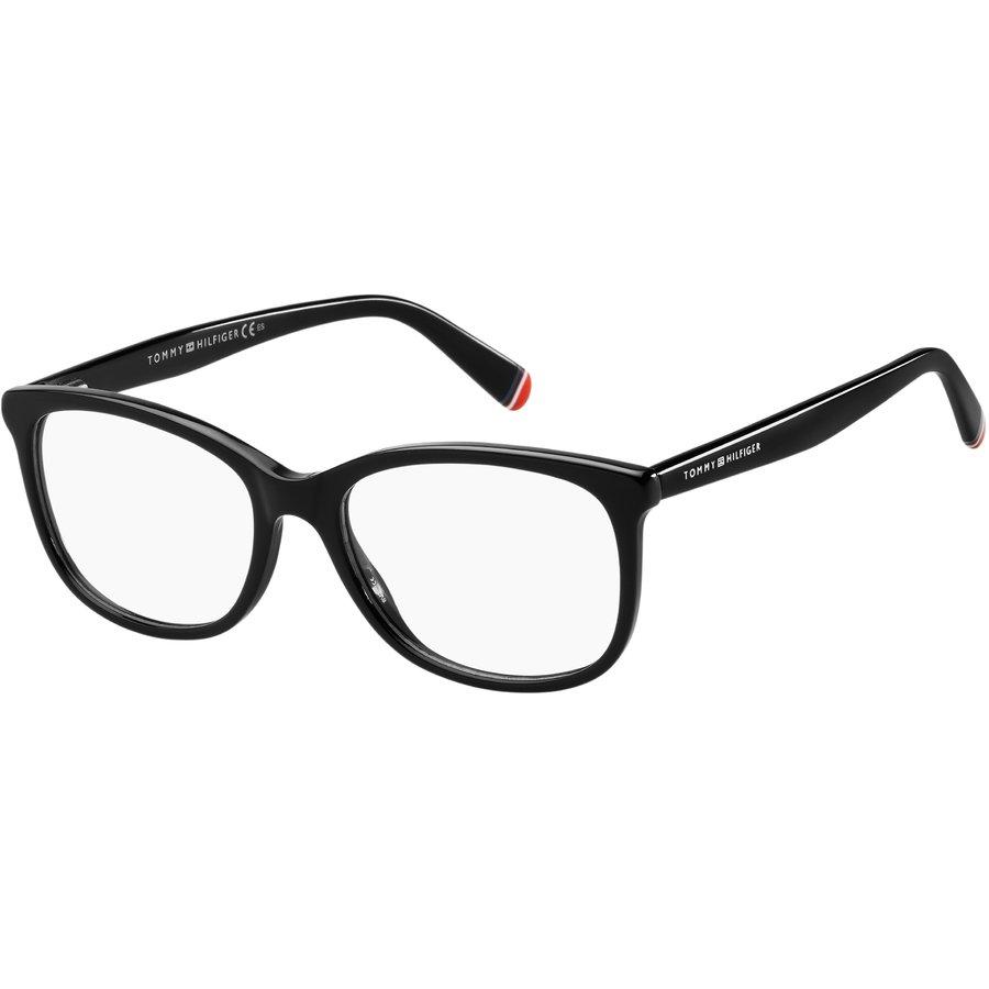 Rame ochelari de vedere dama TOMMY HILFIGER TH 1588 807 BLACK Patrate originale cu comanda online
