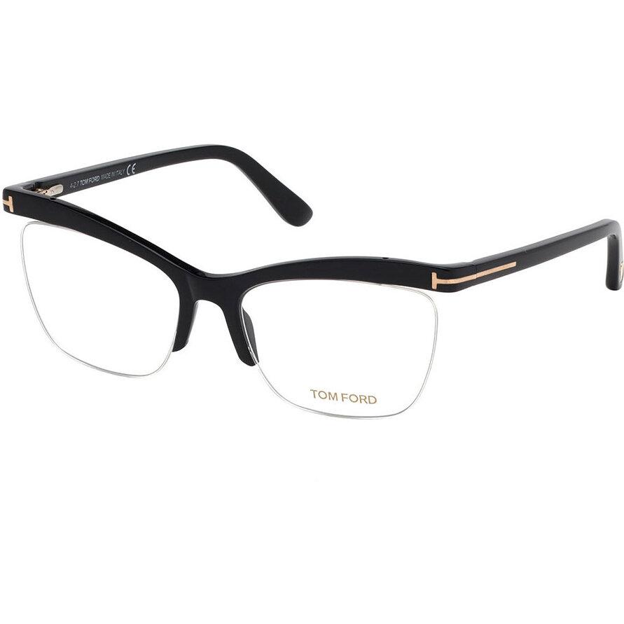 Rame ochelari de vedere dama Tom Ford FT5540 001 Ochi de pisica originale cu comanda online
