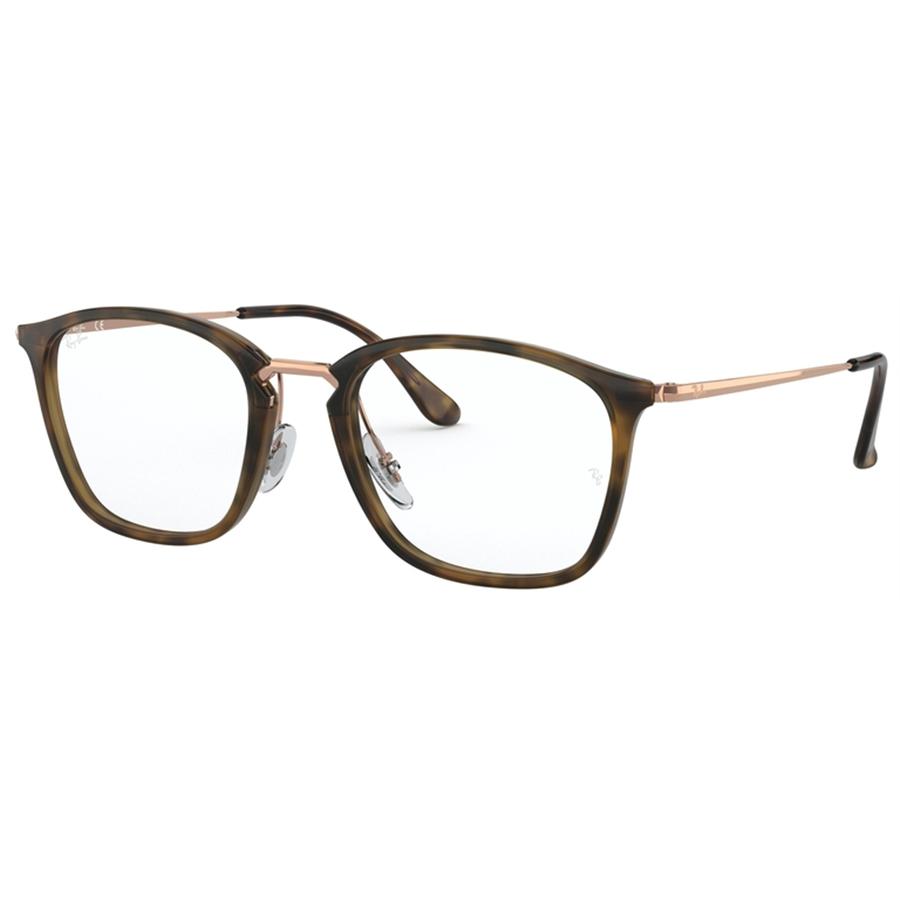 Rame ochelari de vedere unisex Ray-Ban RX7164 5881 Patrate originale cu comanda online