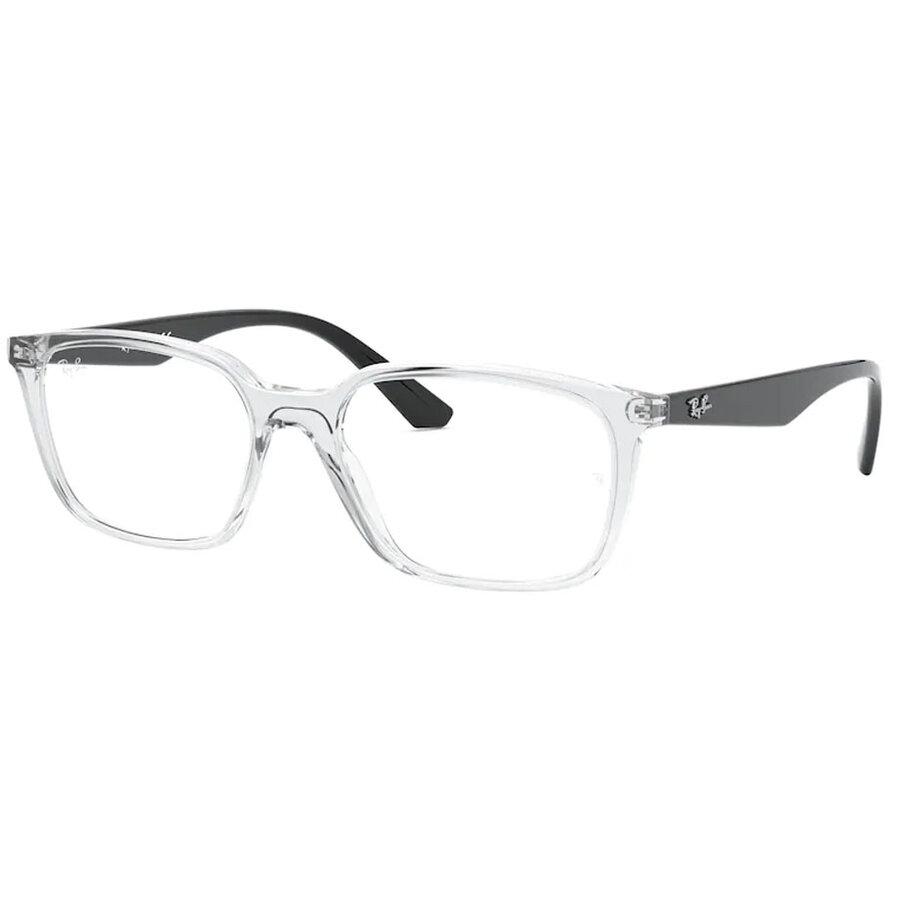 Rame ochelari de vedere unisex Ray-Ban RX7176 5943 Rectangulare originale cu comanda online