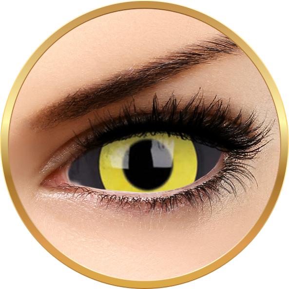 Sclera Angel Dust – lentile de contact colorate galbene anuale -185 purtari (2 lentile/cutie) brand ColourVUE cu comanda online