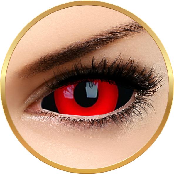 Sclera Gremlin – lentile de contact colorate rosii anuale – 185 purtari (2 lentile/cutie) brand ColourVUE cu comanda online