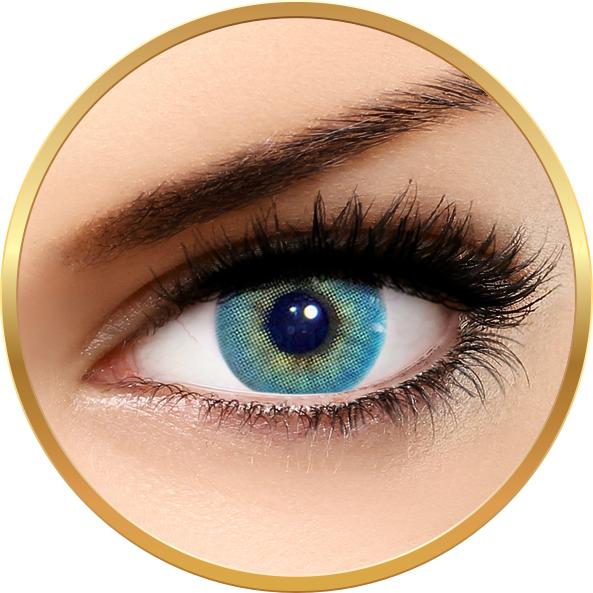 Solotica Hidrocor Topazio - lentile de contact colorate albastre lunare - 30 purtari (2 lentile/cutie) brand Solotica cu comanda online