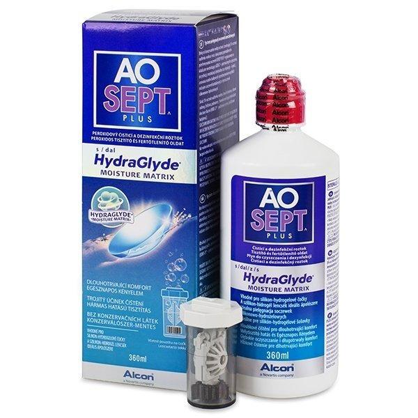 Solutie curatare lentile de contact AO Sept Plus 360 ml + suport lentile cadou marca Alcon/CibaVision cu comanda online