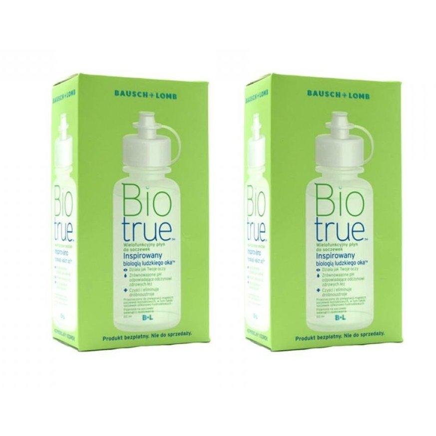 Solutie intretinere lentile de contact Biotrue 2 x 120 ml + suport lentile cadou marca Bausch&Lomb cu comanda online