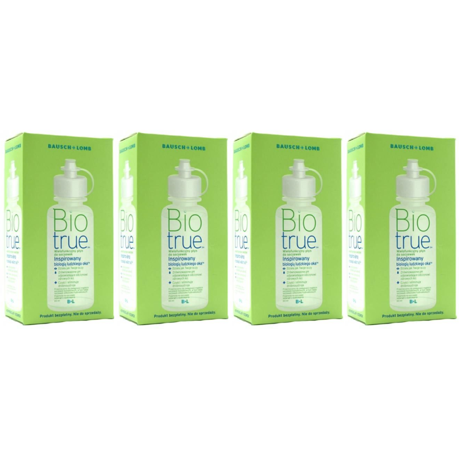 Solutie intretinere lentile de contact Biotrue 4 x 120 ml + suport lentile cadou marca Bausch&Lomb cu comanda online