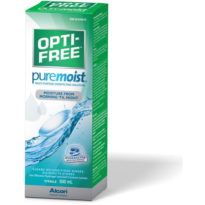 Solutie intretinere lentile de contact Opti-Free Pure Moist 300 ml + suport lentile cadou marca Alcon/CibaVision cu comanda online