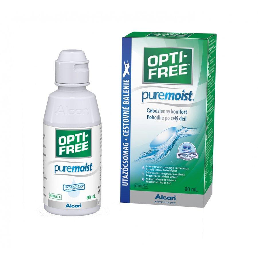 Solutie intretinere lentile de contact Opti-Free Pure Moist 90 ml + suport lentile cadou marca Alcon/CibaVision cu comanda online