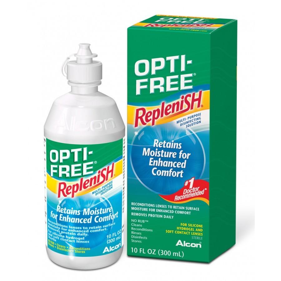Solutie intretinere lentile de contact Opti-Free RepleniSH 300 ml + suport lentile cadou marca Alcon/CibaVision cu comanda online