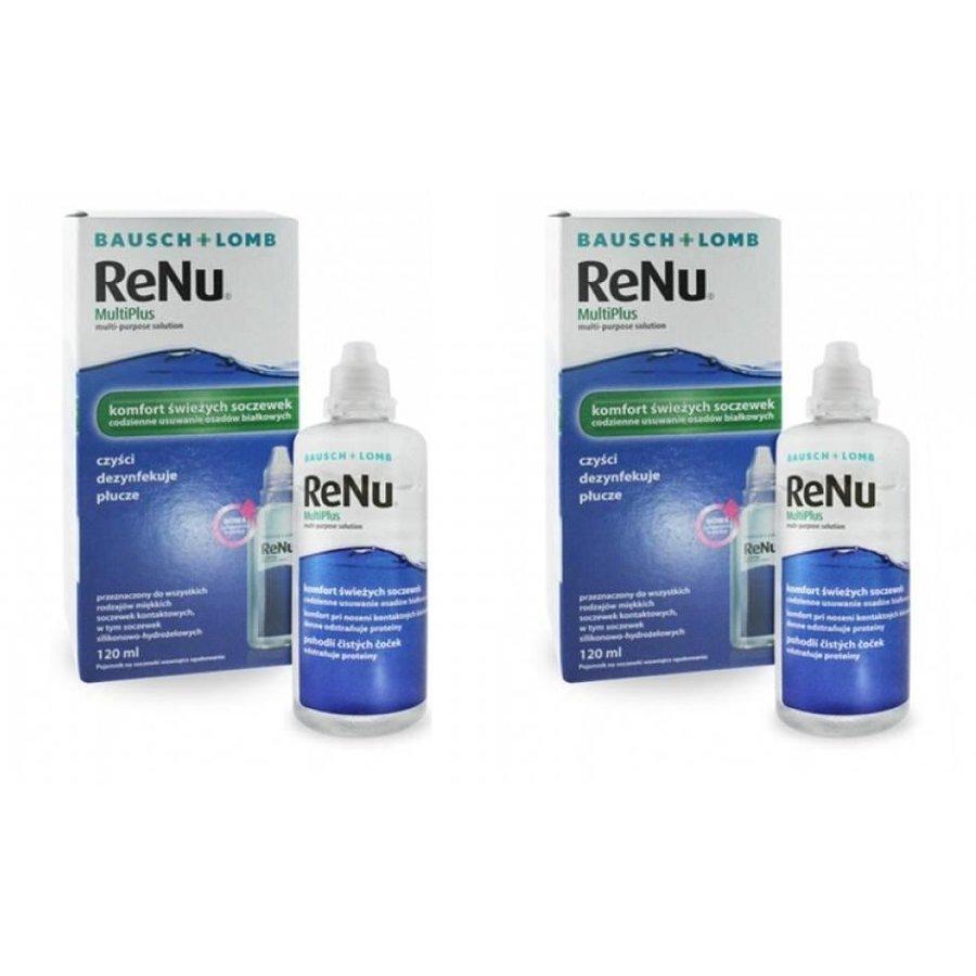 Solutie intretinere lentile de contact Renu Multi-Purpose 2 x 120 ml + suport lentile cadou marca Bausch&Lomb cu comanda online