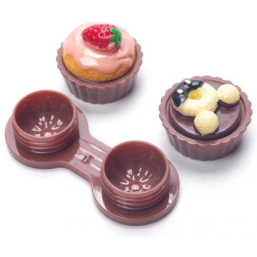 Suport pentru lentilele de contact Cup Cake Chocolate marca AuvaVision cu comanda online