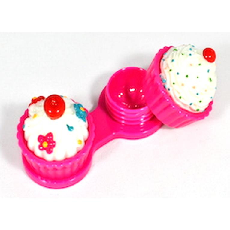 Suport pentru lentilele de contact Cup Cake Pink marca AuvaVision cu comanda online